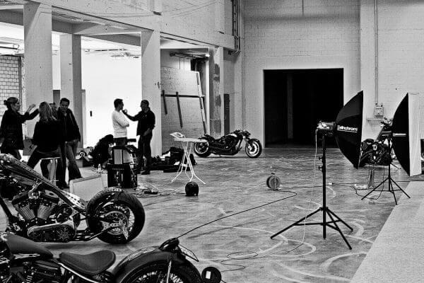 Making of Bike shooting